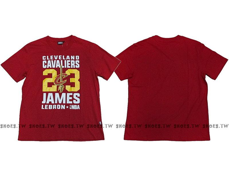 Shoestw【8660258-011】NBA T恤 克里夫蘭 騎士隊 23號 JAMES LEBRON 紅色 短袖棉T