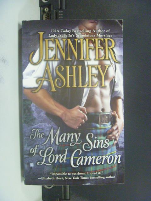 【書寶二手書T3/原文小說_GRX】The Many Sins of Lord Cameron