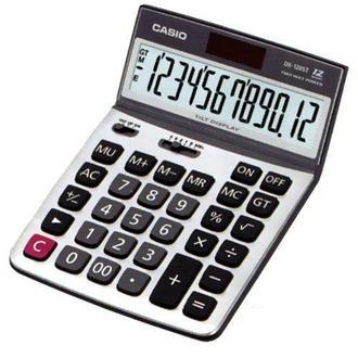 卡西歐 CASIO桌上型12位數計算機螢幕角度可調整 DX-120ST