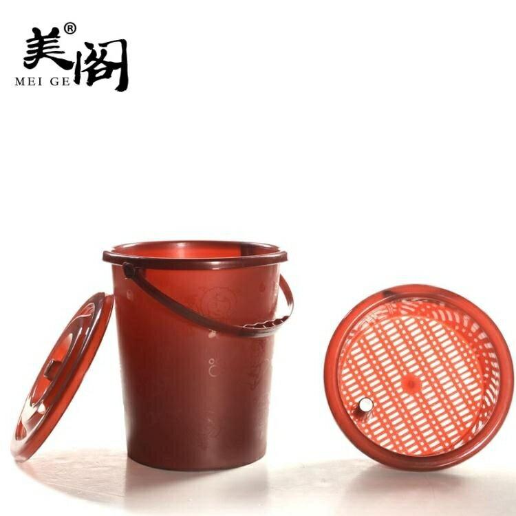 茶水桶 家用塑膠桶茶渣桶茶桶廢水桶排水功夫茶具茶盤茶道配件jy