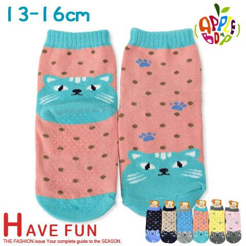 止滑童襪 貓咪款 直版襪 台灣製 本之豐
