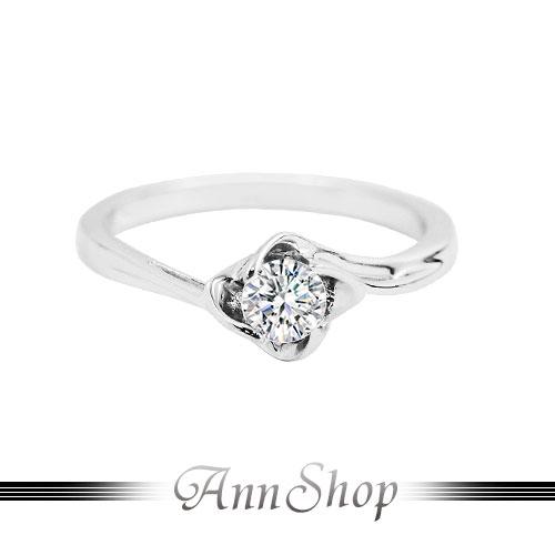 AnnShop~925純銀‧幸福相擁.鋯石  鑽石純銀戒指~可客製化鑽石珠寶銀飾 ZR74