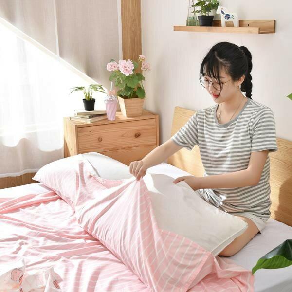 旅行隔臟純棉睡袋室內女戶外酒店賓館雙人被套旅游防臟便攜式床單《台北日光》