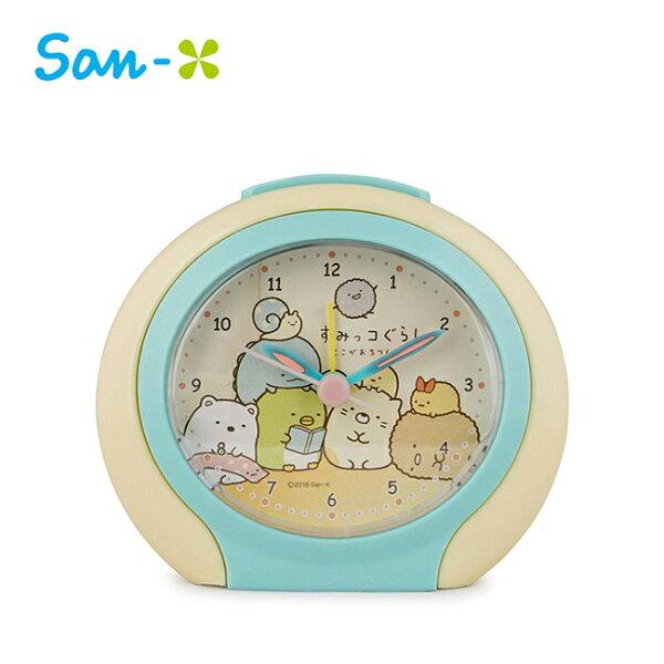 鵝黃款【日本正版】角落生物鬧鐘時鐘指針時鐘夜燈設計角落小夥伴San-X-882745