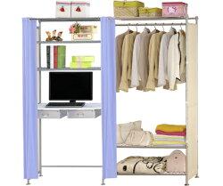 巴塞隆納-W3型90公分+E90公分電腦桌衣櫥架