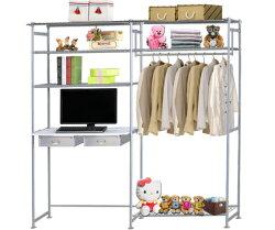 巴塞隆納-WP3型90公分+E90公分電腦桌衣櫥架(無防塵)