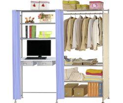 巴塞隆納-W4型90公分+E90公分電腦桌衣櫥架