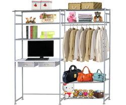 巴塞隆納-WP4型90公分+E90公分電腦桌衣櫥架(無防塵)