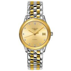 LONGINES 浪琴表 L47743377 旗艦晶鑽經典腕錶/白面35.6mm