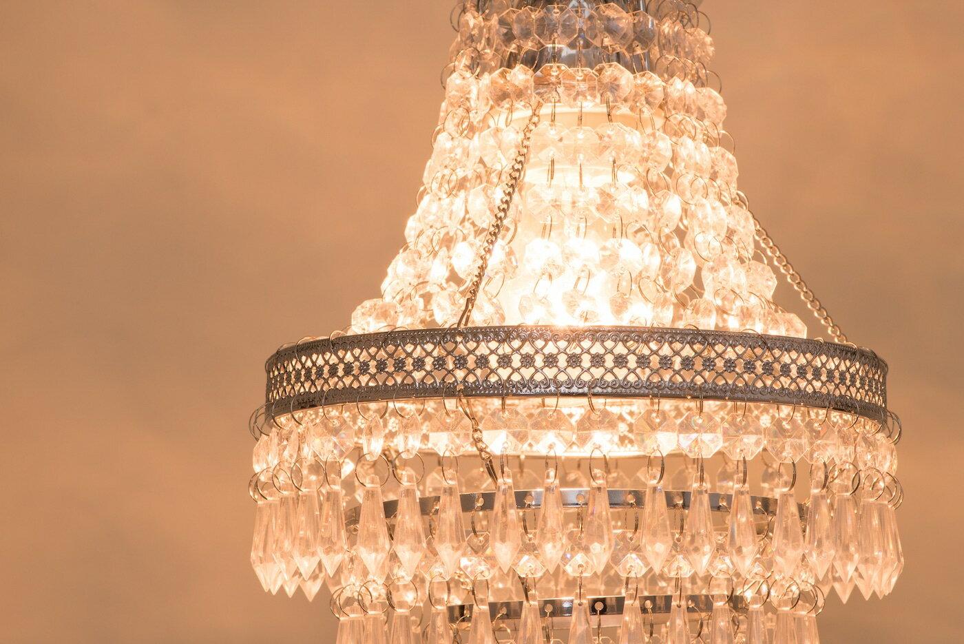 鍍鉻色華麗透明壓克力珠吊燈-BNL00022 5