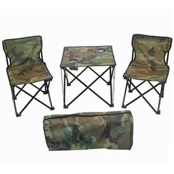 《沛大旗艦店》$629折疊桌椅組郊遊戶外野炊桌椅組野餐釣魚椅迷彩背包式1桌2椅-附收納袋【S75】