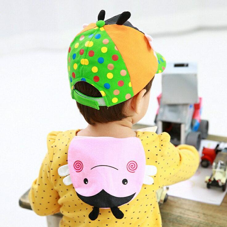 Lemonkid◆可愛小蜜蜂造型雙層吸汗純綿紗布兒童吸汗巾-粉色
