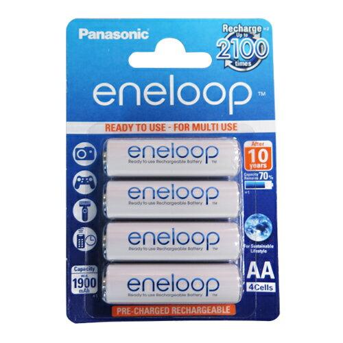 【國際牌 Panasonic 電池】3號 eneloop低自放電充電電池(4顆/卡)