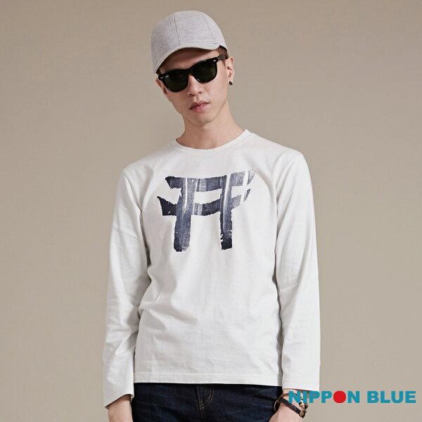 【秋冬精選】簡約日式鳥居印花浸染長袖T恤-BLUEWAYNIPPONBLUE日本藍