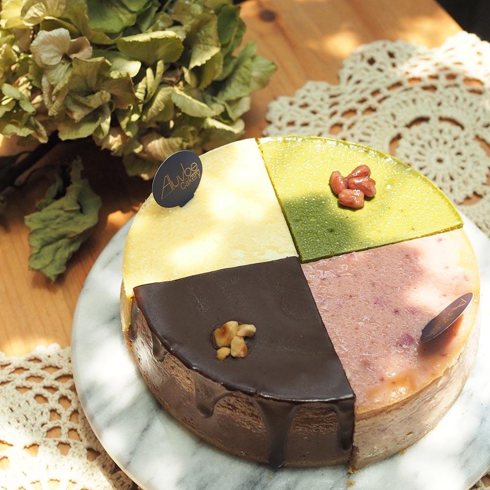 艾樂比 【乳酪四重奏】 四種經典口味 蛋糕 起司蛋糕 生乳酪蛋糕 aluvbe