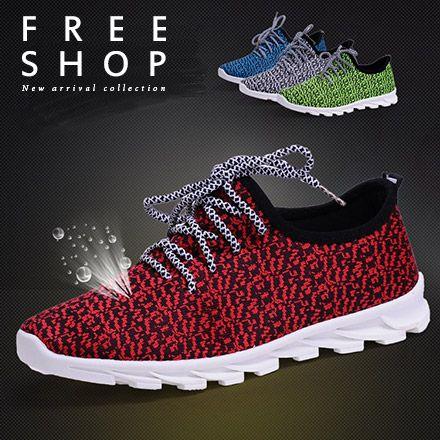 休閒鞋 Free Shop~QFSPD1621~日 百搭透氣休閒舒適綁帶慢跑鞋懶人鞋 鞋針