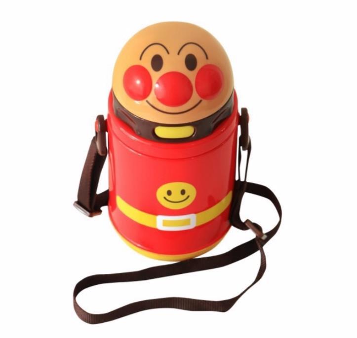 【真愛日本】18042300012 彈蓋吸管水壺400ml-ANP 麵包超人 保冷吸管水壺 水瓶 保冷水壺