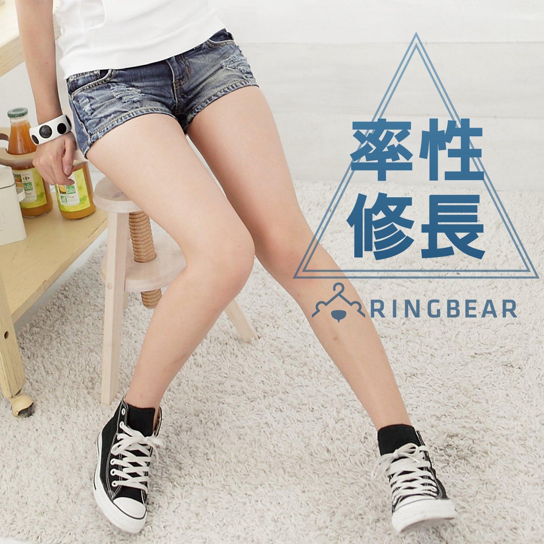 熱褲--俏麗性感藍色系勻染刷破兩分顯瘦修長牛仔超短褲(S-7L)-R34眼圈熊中大尺碼 0