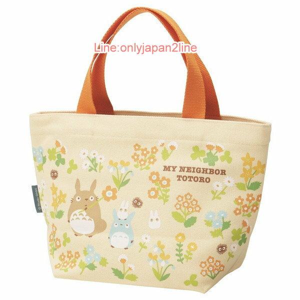 【真愛日本】17030300029帆布小提袋-龍貓花園米   龍貓 TOTORO 豆豆龍 手提袋  便當袋 正品