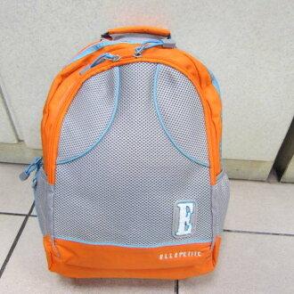 ~雪黛屋~ELLE 後背包內立體隔層版設計書包休閒包進口 防水尼龍布材質可放A4資料夾P61440600桔