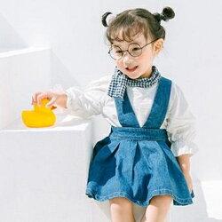牛仔吊帶洋裝 吊帶裙 洋裝 橘魔法Baby magic  現貨 女童 中童