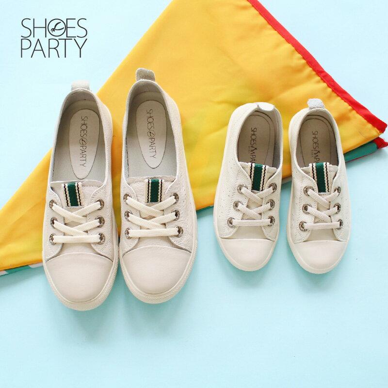馬上出貨【FK-18204L】內建鬆緊帶,軟牛皮織帶童鞋_Shoes Party 2