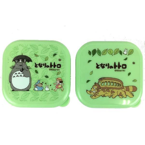 【真愛日本】13011900042 2入保鮮盒-落葉公車綠 宮崎駿 龍貓 便當盒 保鮮盒 日本帶回