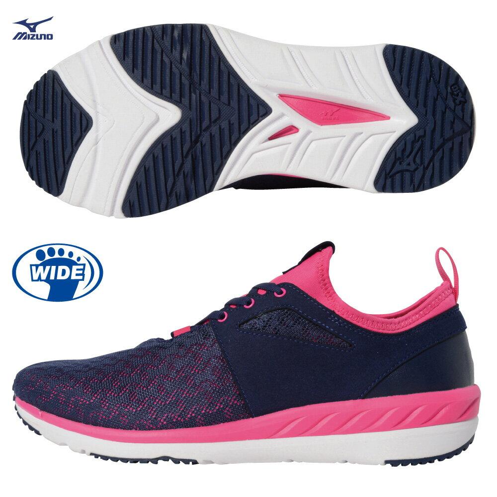 B1GF184414 (黑X桃粉) WAVE TX WALK 運動型女健走鞋【美津濃MIZUNO】 - 限時優惠好康折扣