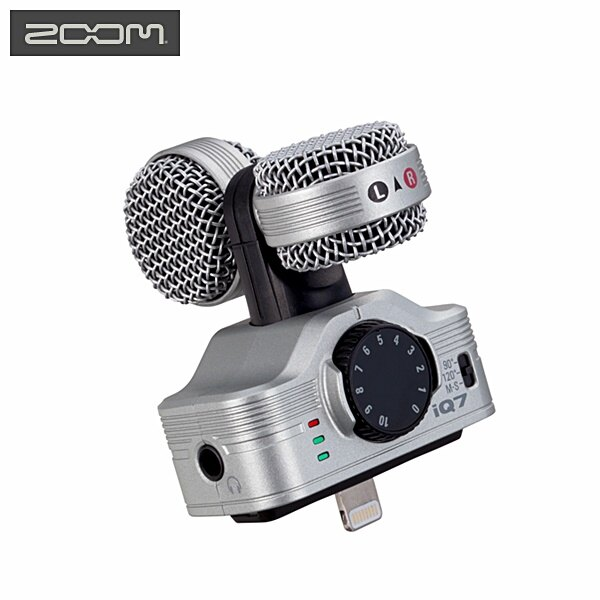 又敗家@日本Zoom銀色iQ7立體聲數位錄音麥克風收音麥克風錄音筆錄音器收音器適Apple蘋果iPhone5s iphone5c iphone6s + SE iphone5 iphone6 MICPH..
