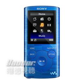 【曜德★買一送二】SONY NWZ-E383 漂浮藍 4GB 數位隨身聽 享受震撼低音 ★免運★送絨布袋+USB旅充+吊飾★