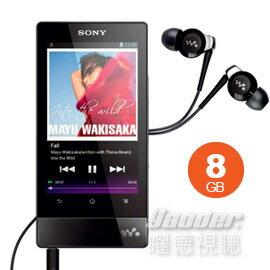 <br/><br/>  【曜德↘狂降】SONY NWZ-F804 黑色 8GB 數位隨身聽 觸控螢幕 ★免運★送EX20LP耳機+行動電源★<br/><br/>
