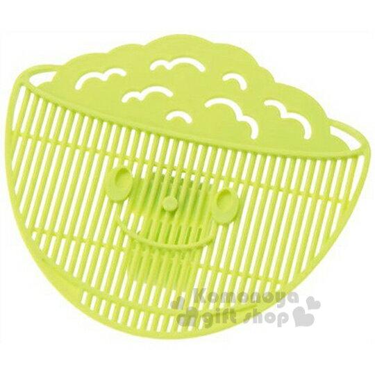 〔小禮堂〕日製造型瀝米板《綠.飯碗型》不怕米粒會掉出來