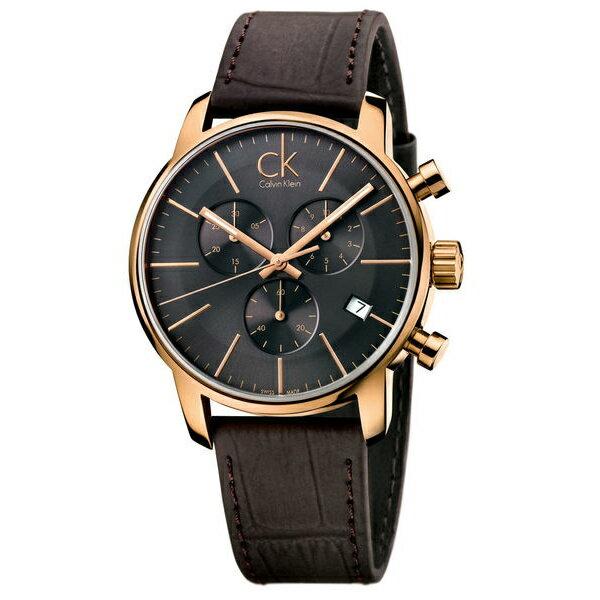 CK 都會系列(K2G276G3)都會雅痞計時腕錶/黑面43mm
