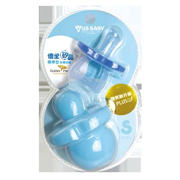 優生矽晶安撫奶嘴微笑新升級-標準SL(藍)『121婦嬰用品館』
