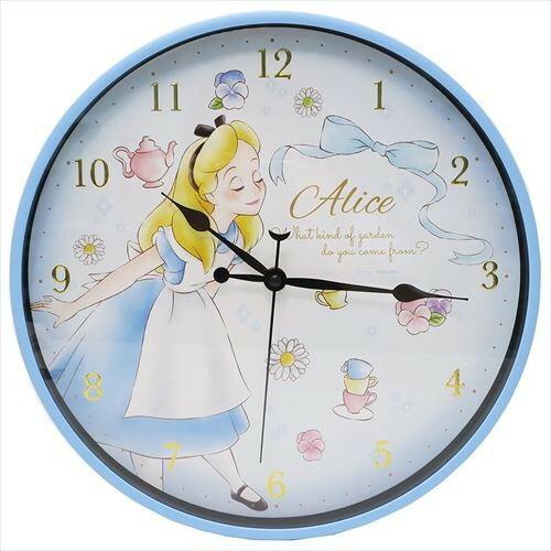 X射線【C064472】愛麗絲夢遊仙境Alice燙金數字掛鐘,時鐘掛鐘壁鐘座鐘鬧鐘鐘錶手錶潛水錶