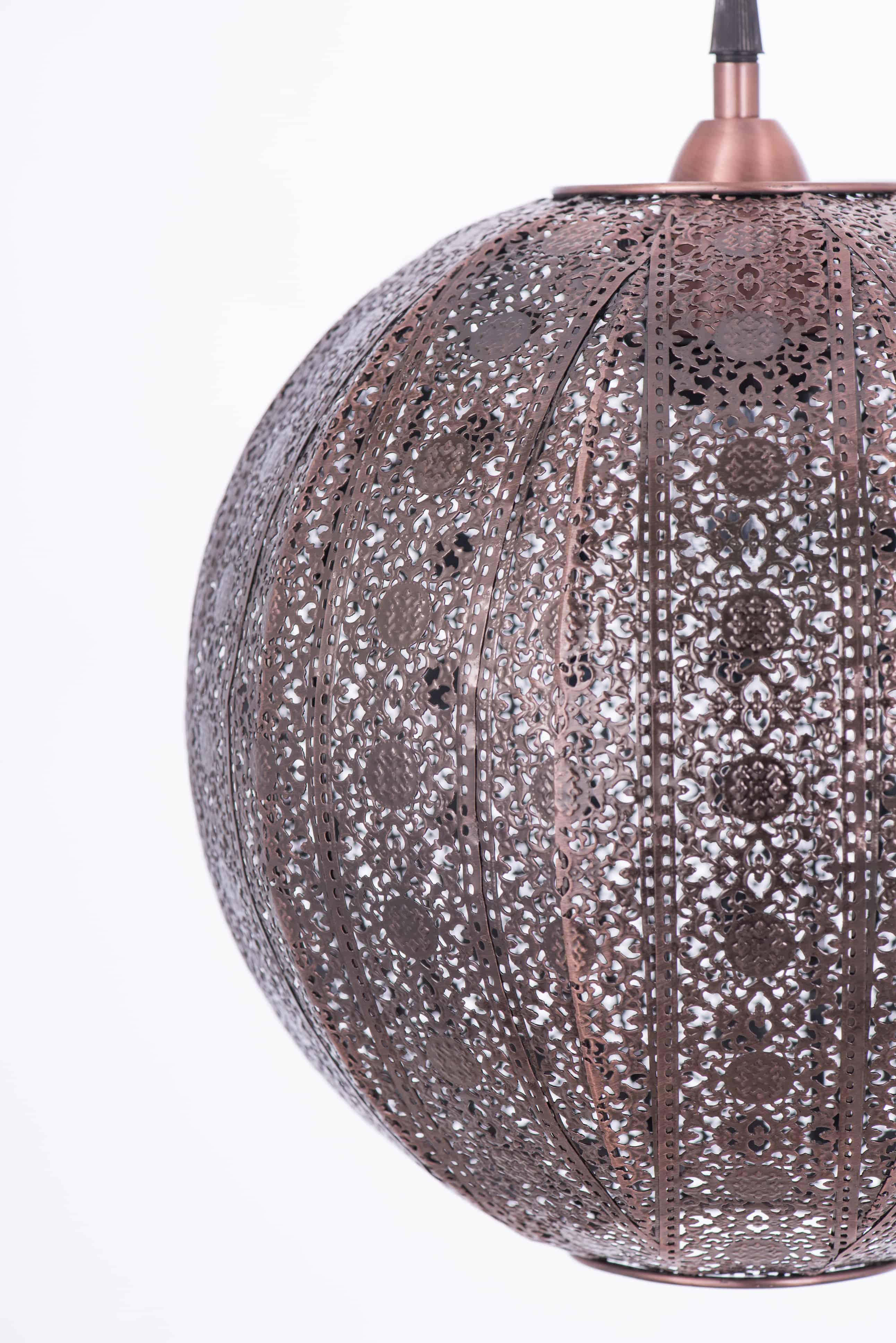 紅銅刷黑蕾絲花邊圓形吊燈-BNL00075 0