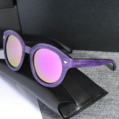 ☆太陽眼鏡偏光墨鏡-木頭紋三角裝飾男女眼鏡配件5色73en83【獨家進口】【米蘭精品】