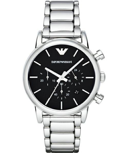 EMPORIO ARMANI/AR1853經典重現計時腕錶/白面41mm