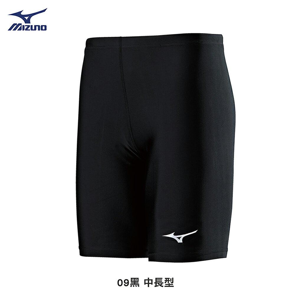 男款中長型緊身褲 U2TB8G1209(黑)【美津濃MIZUNO】 - 限時優惠好康折扣