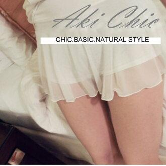 《限時5折。白色》【c006】日韓春夏性感白色網紗雙層安全褲短裙褲防曝光