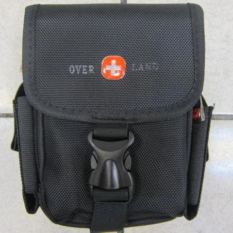 ^~雪黛屋^~~OVER~LAND 外掛式腰包大容量防水尼龍布 隨身物品 包工作袋可穿過皮