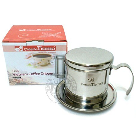 Tiamo不鏽鋼越南咖啡濾器(單把) HG2686 滴漏式咖啡 濾杯 不須更換濾紙