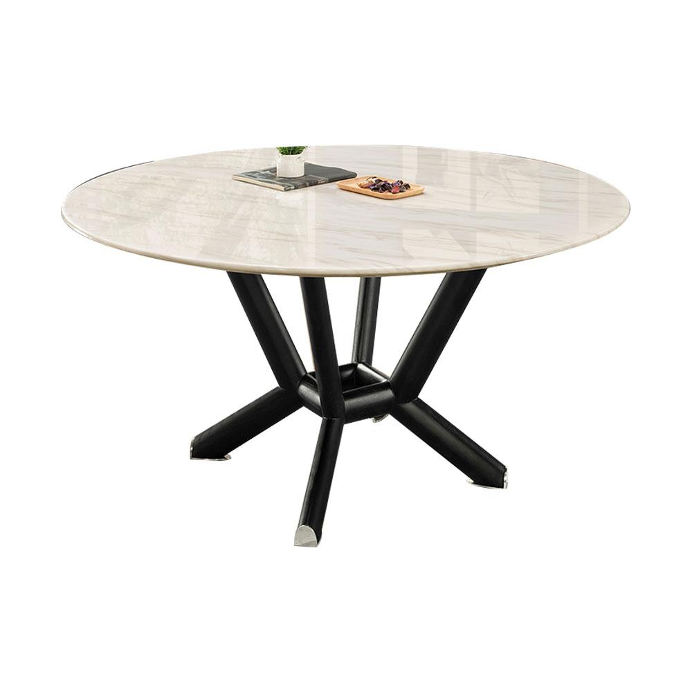 麥爾斯4.3尺石面圓餐桌/H&D東稻家居