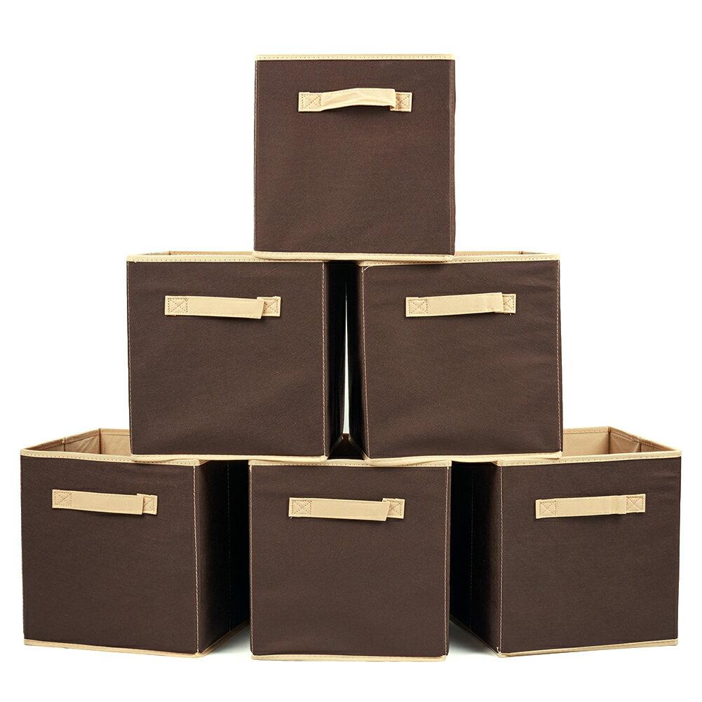 bluemall set of 6 basket bins ezoware collapsible storage rh rakuten com Canvas Storage Baskets for Shelves Open Storage Bins and Baskets