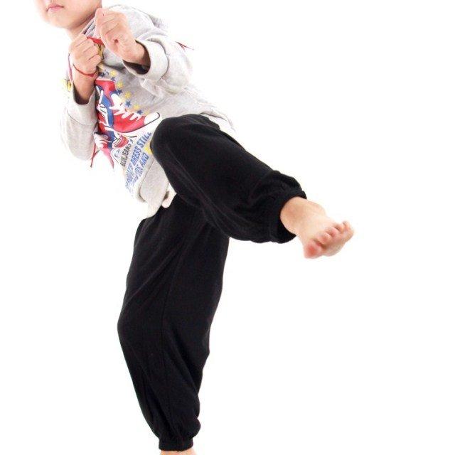 ~廣隆~兒童練習褲 小孩功夫褲 太極拳 透氣褲 武術褲 燈籠褲 瑜珈/禪坐/運動褲 休閒褲 學舞褲