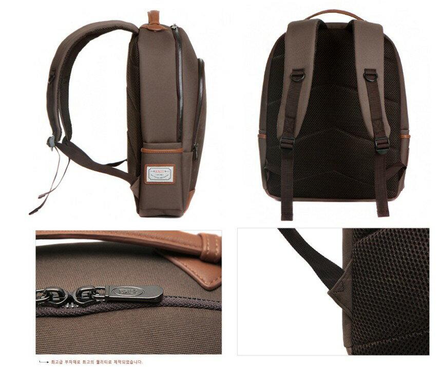 韓國代購 高品質 簡約男性公事14.15吋筆電雙背包 經典包 2