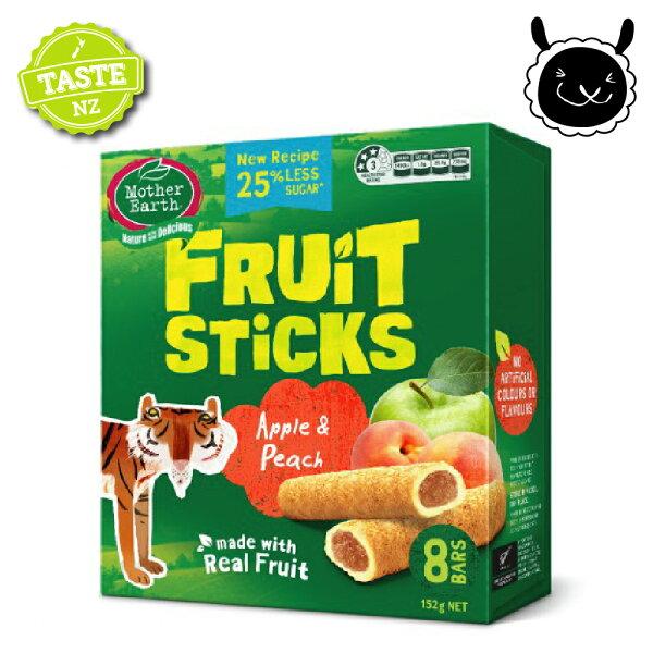 壽滿趣:【壽滿趣】紐西蘭MotherEarth烘培水果棒x1盒(蘋果水蜜桃口味)
