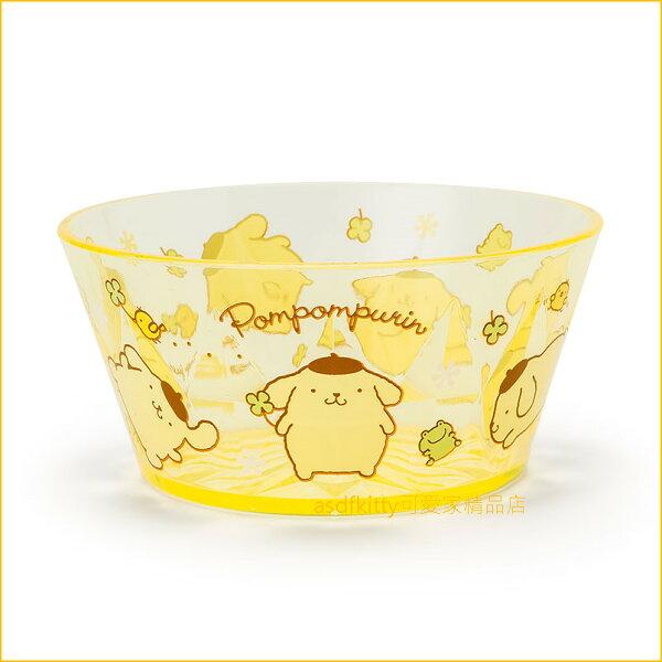 asdfkitty可愛家☆布丁狗黃色透明塑膠碗水果碗冰淇淋碗小物收納碗-500ML-日本正版商品