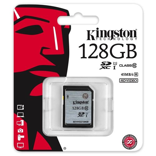 Kingston 128 GB SDXC - Class 10/UHS-I (U1) - 45 MB/s Read 1
