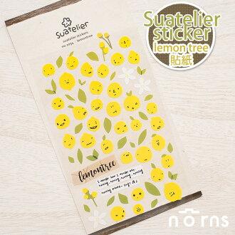 NORNS【Suatelier sticker(lemon tree)貼紙】檸檬 樹 表情 可愛 手帳貼紙 手作裝飾